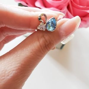 18k Gold Plated Swan ring
